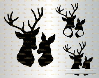 Perfect Double D/'s Deer SVG and Studio 3 Cut File Cutouts Files Logo for Silhouette Cricut PNG SVGS Buck Sports Football Hunting