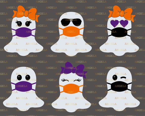 Ghost Svg Bundle Halloween face Svg Boo Svg Ghost with