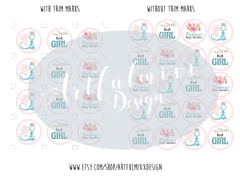 Dragon Baby Shower Cupcake Toppers 06Z Edit /& Print Fast Unique Baby Shower Ideas Edit Now Printable Baby Shower Cupcake Toppers