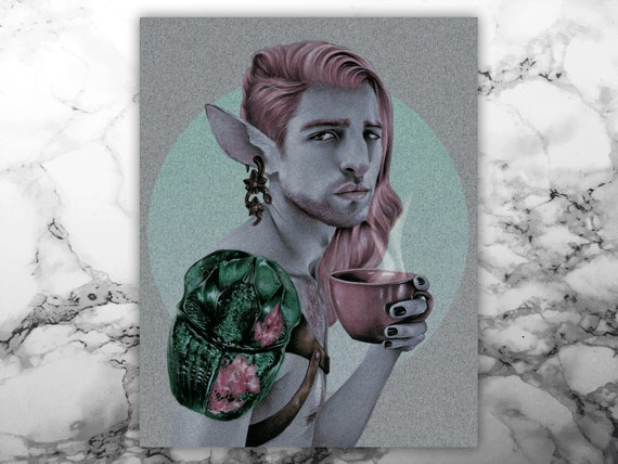 Caduceus Clay Art Print Critical Role Etsy Our fan art gallery for the week of april 1! caduceus clay art print critical role