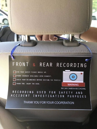 CCTV In Car Camera Recording For Uber Lyft And