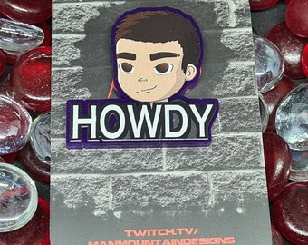 Twitch ManMountainDesigns Emote [CHARITY] pin badge [PRE-ORDER]