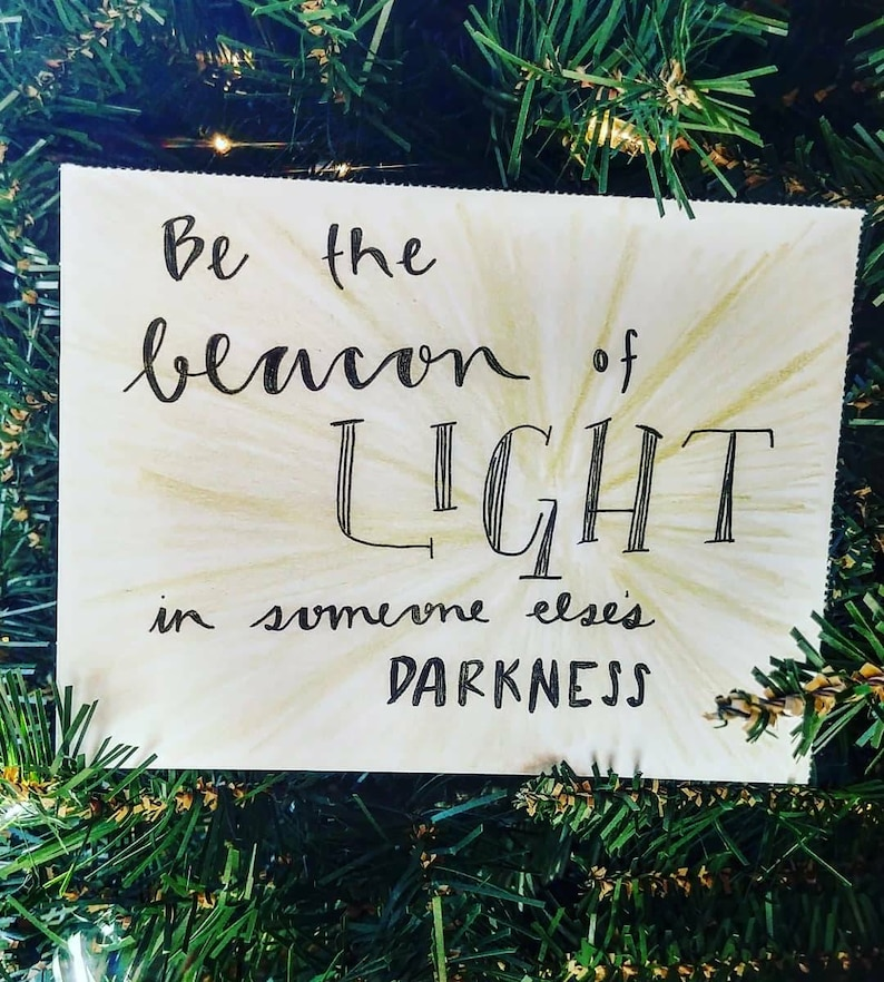 Beacon Of Light Wall Art Or Card Etsy