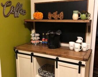 Coffee Bar Cabinet Etsy