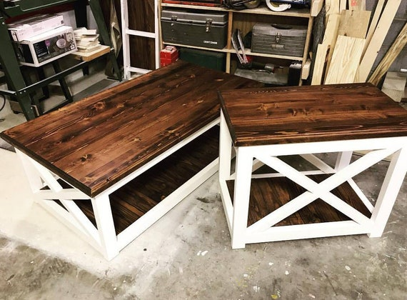 Coffee Table End Table Farmhouse Decor Rustic Country Etsy