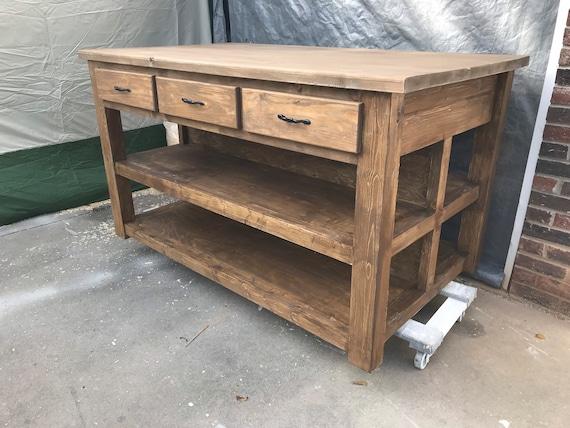 Kitchen Island / Farmhouse Island / Island / Custom Made / Decor / Rustic /  Home / Farmhouse Kitchen