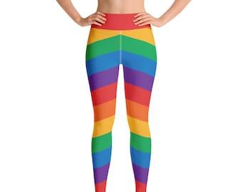 bf1f0c7719d83f Gay Pride Rainbow Flag Leggings