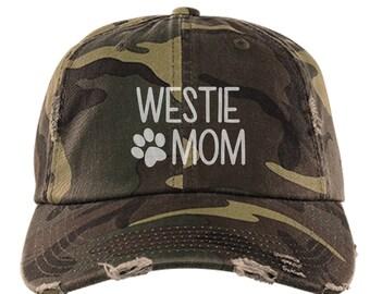 cfa0809892b Westie Mom Distressed Hat