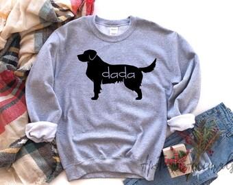 e1c4b50fa8 Golden Retriever Dog Dad Sweatshirt, Family shirt, Unisex Crewneck  Sweatshirts, Long Sleeve Sweater, Father's day gift, couple shirt