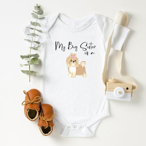 Baby Bodysuits I Only Love My Dog Kids T-shirt Shih Tzu Kids Shirt Girl Shirts Dog Lover Gifts Boy Shirts