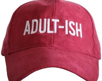 25d980517c1be Adult-ish Katydid hat red faux suede