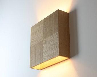 wooden wall lamp GEMINUS JUN veneer high end finish minimalistic design