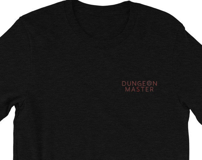 Dungeon Master Embroidered T-Shirt | Short-Sleeve Unisex Gamer Tee