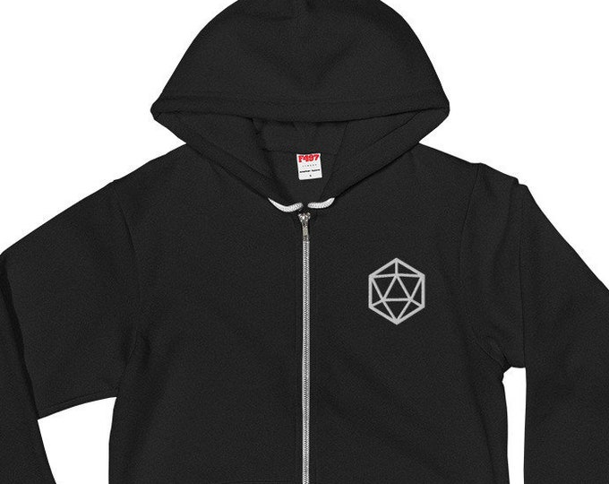 Embroidered Natural 20 Hoodie | Gamer d20 Sweatshirt