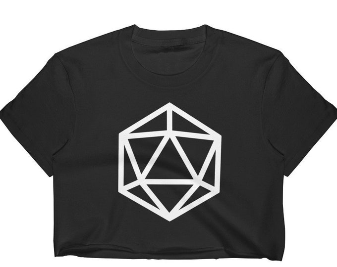 d20 Silhouette Crop Top