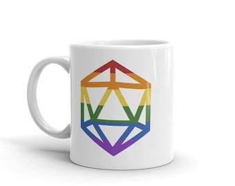 d20 LGBTQIA+ Pride Flag Mug