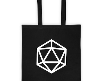 d20 Silhouette Tote Bag