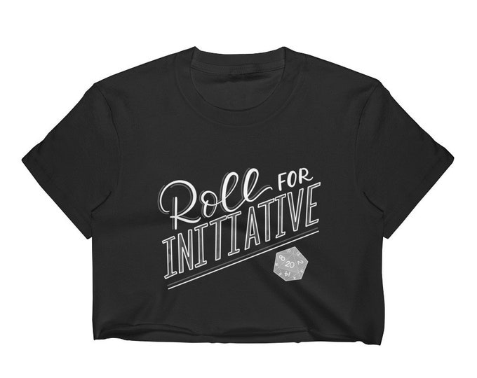 Roll for Initiative Crop Top with Unfinished Hem | Gamer Apparel