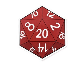 Natural 20 Sticker | Tabletop Gaming d20 Critical Hit