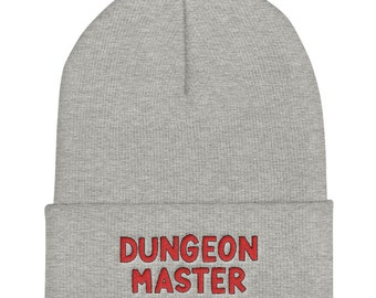 Dungeon Master Embroidered Beanie | Gamer Apparel
