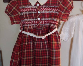 6bd4c26ed99 1960s Plaid Toddler Dress