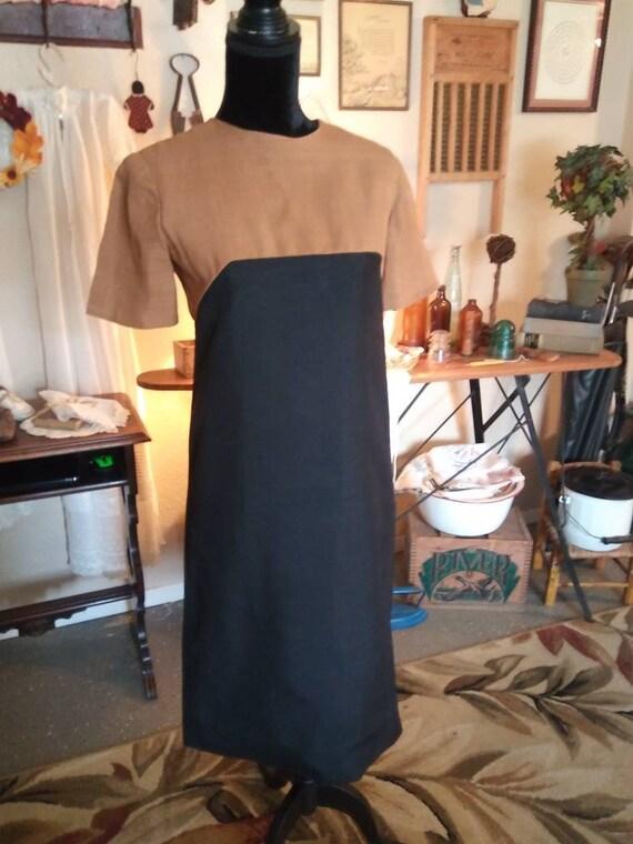 1960s Two Tone Linen dress/Never worn/ FREE SHIPP… - image 1