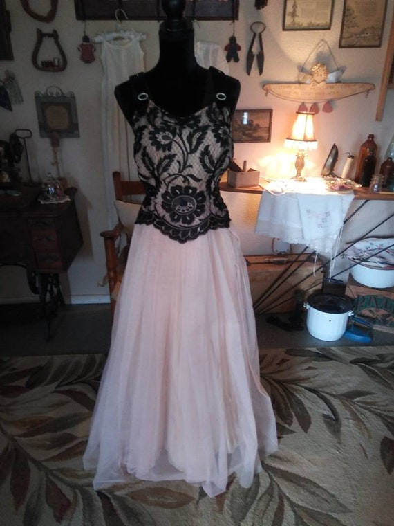 Vintage 1950s or 1960s Gown/ FREE SHIPPING - image 1