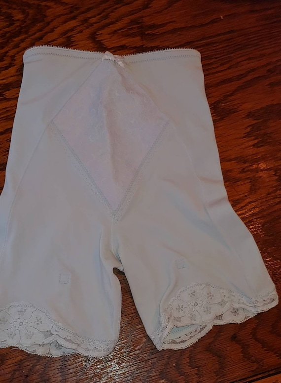 Vintage Blue Girdle Shapewear Garters
