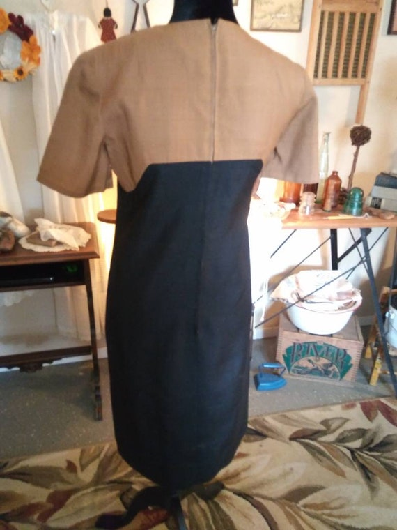 1960s Two Tone Linen dress/Never worn/ FREE SHIPP… - image 2