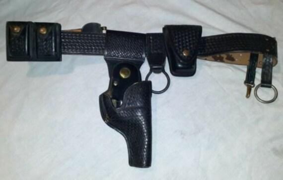 Vintage Surelock Black Leather Police Safety Holst