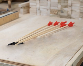 Long Bow Arrows | Set of 5 | Wooden Toy