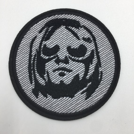 "Nirvana Logo 3/"" Diameter Embroidered Patch"