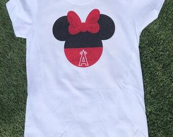 df332ea8ca5 LA Angels MLB Baseball Minnie Mickey Shirt