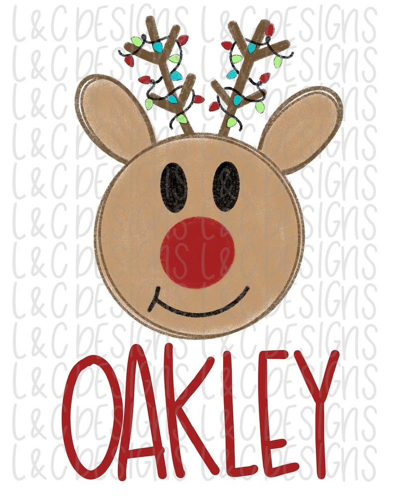 Digital Download Christmas Sublimation Design PNG Reindeer