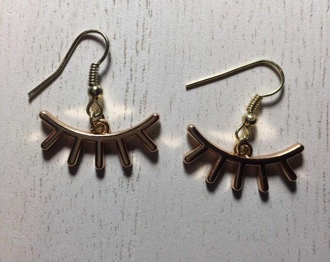 Eye Lash Charm Earrings