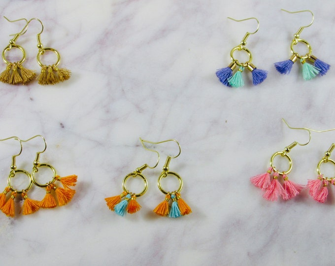 Medium and Small Tassel Earrings