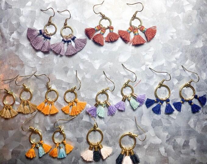Mini Multi Tassel Earrings| Fan Earrings