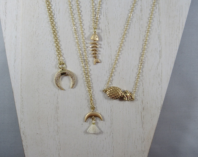 Single Charm Necklaces and Mens Bracelets