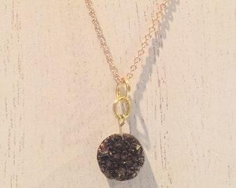 Simple Copper Druzy Necklace