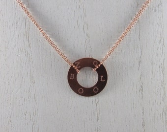 Custom Hand Stamped Circle Necklace