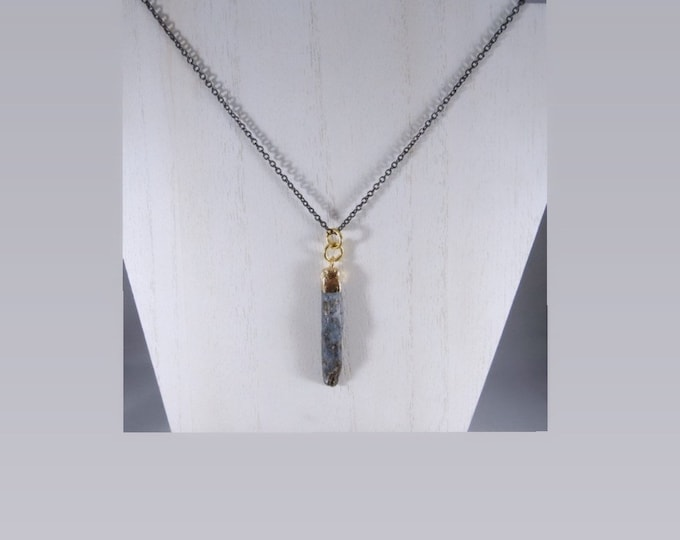 Kyanite Point Pendant Necklace