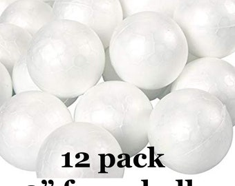 80mm White Solid Styrofoam Balls Modelling Polystyrene Eggs Sphere 10 Packs