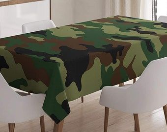 Camo Table Linens Etsy