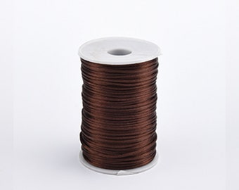 More available and many more colors!! 10 Yards Vintage Brown Mocha Satin Rat Tail Cord Sewing Trim 3mm 18 Inch Extra Fancy