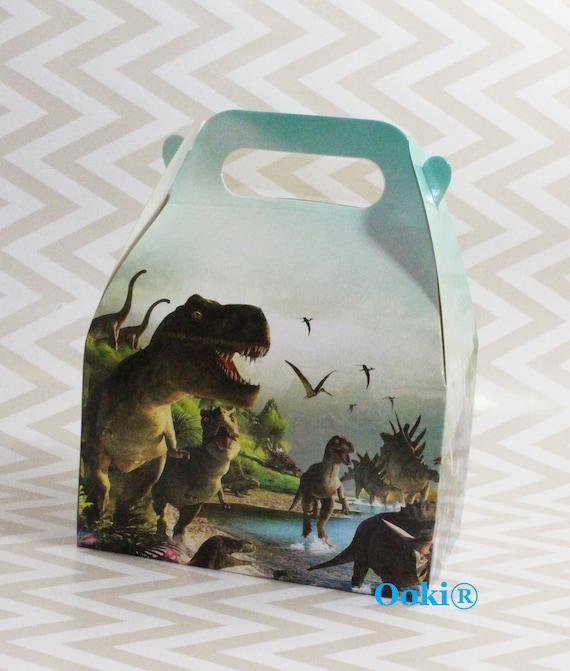 12 Piece Dinosaur Party Pack Favor Box Treats Gift Jurassic Theme Dino Kids Children Birthday Celebration Craft Art