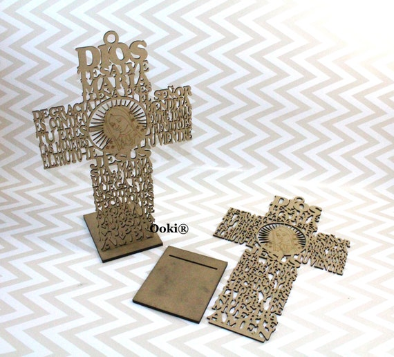 1 x  wooden  poppy Cross