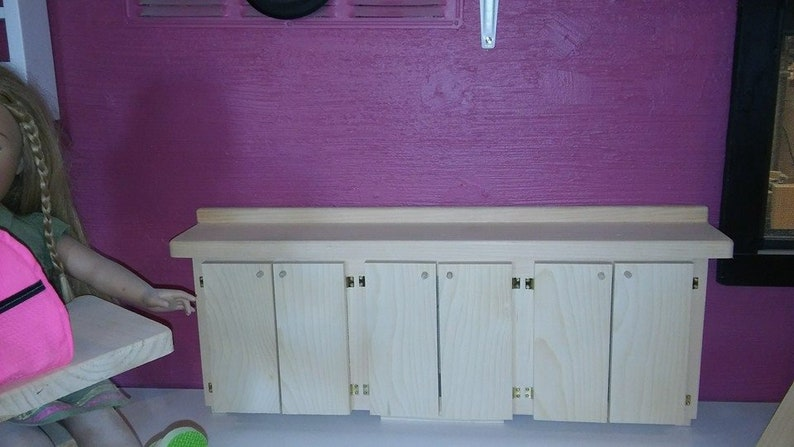 18 Inch Doll Kitchen Cabinets Built For Your Doll House For Dolls Like American Girl