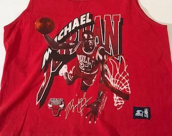 c5d53165b5ea Vintage Michael Jordan Chicago Bulls Tank Top Starter vtg90