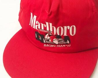 131000208bb Vintage Marlboro cigarettes 92 racing snapback
