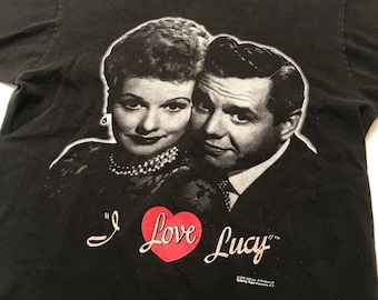 2a718510 Vintage 1993 I love lucy Ricky TV CBS show Lucille ball black t shirt